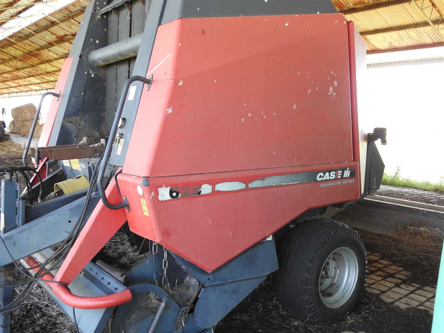 One of two CASE 628 Rotafeed Round baler