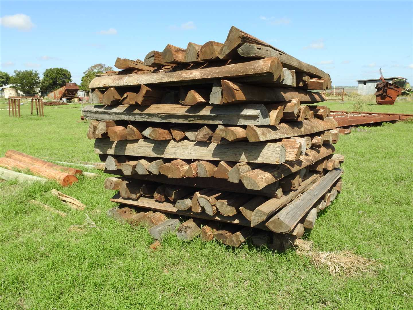Fence posts- more than 120- a few more not in the stack