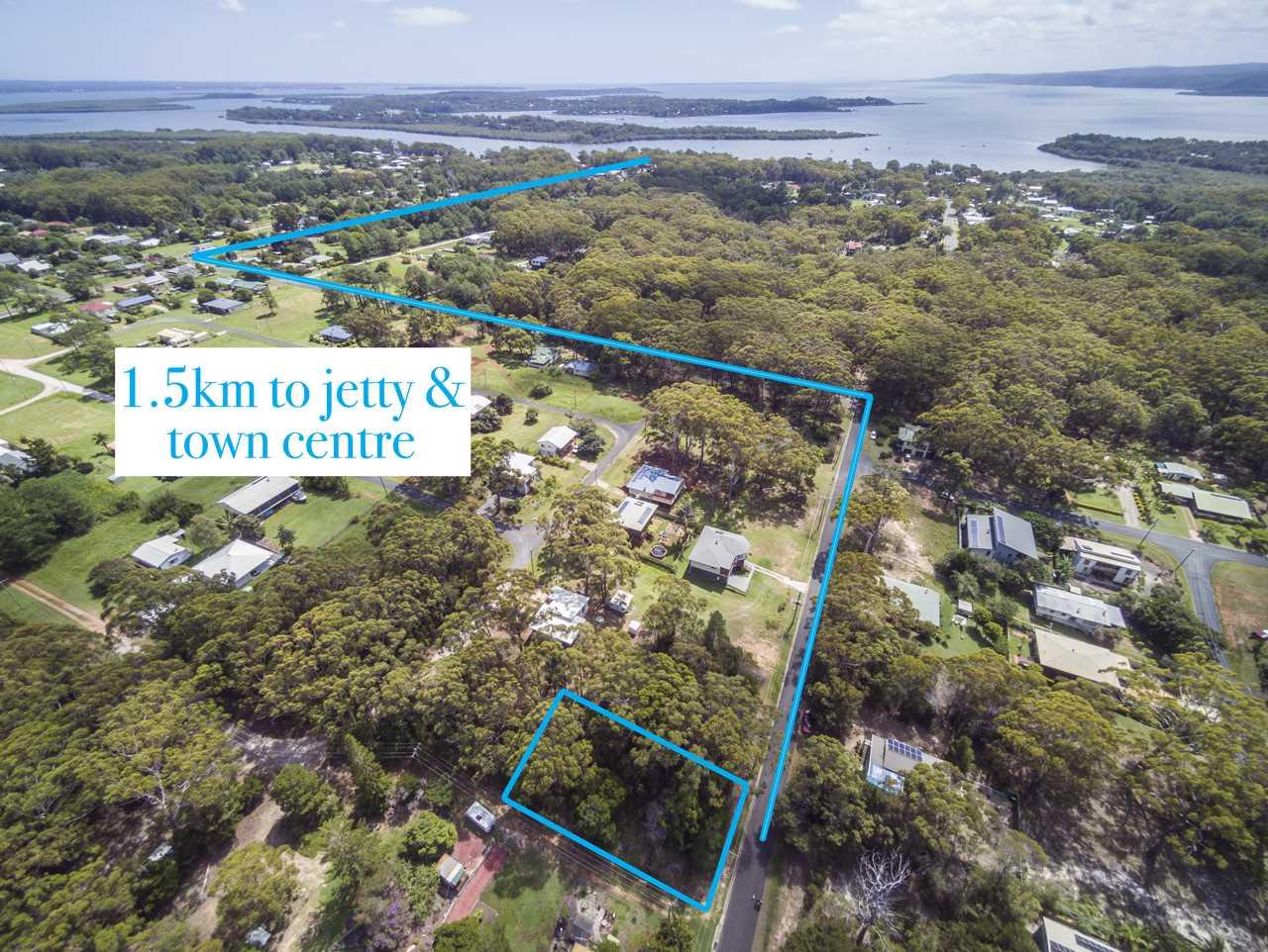 Drone view 1.5 km to jetty