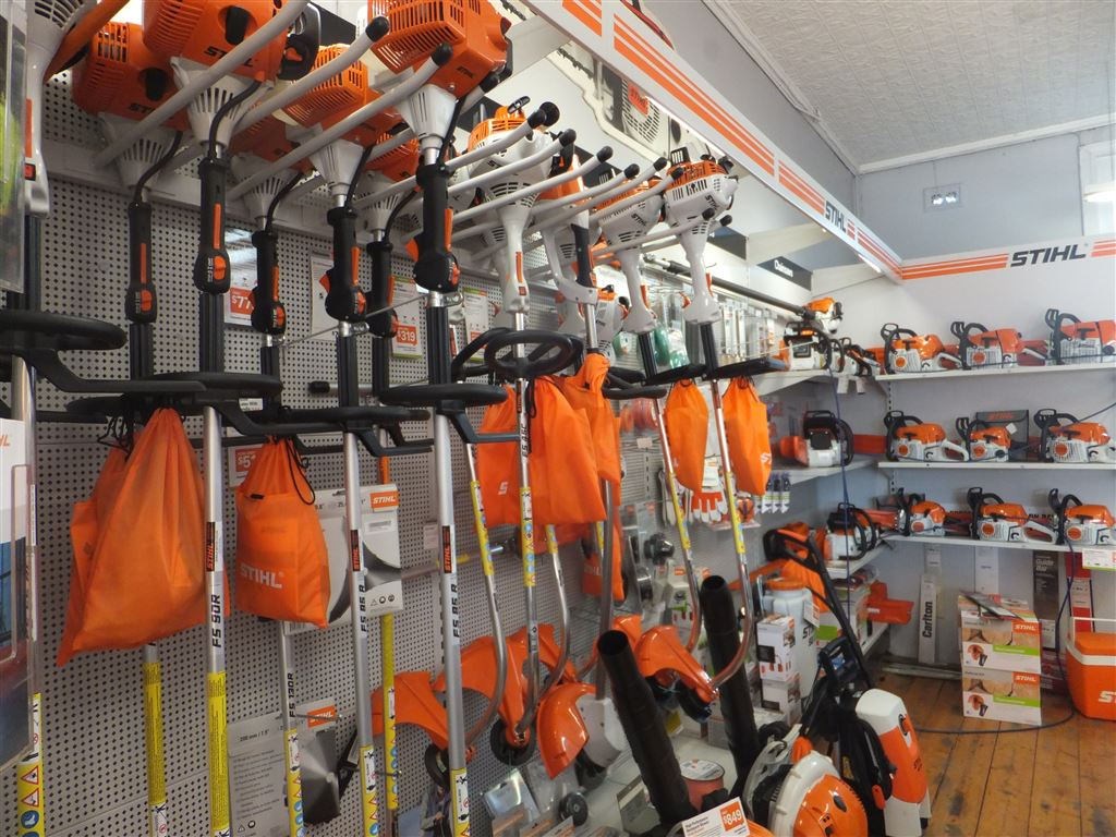 Shop Floor with full range of Stihl garden equipment & chainsaws