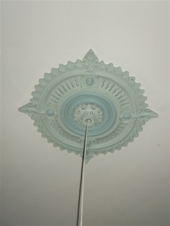 Decorative ceiling rose in main bedroom