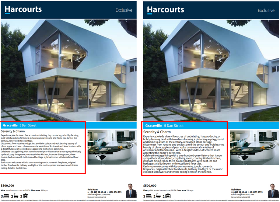 Harcourts Client Flyers Font Increase