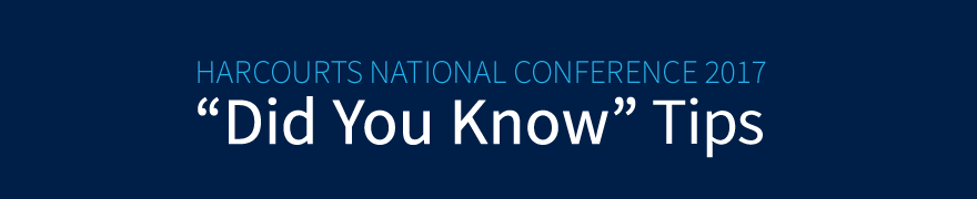Harcourts Conference Did You Know? HarcourtsOne Tips