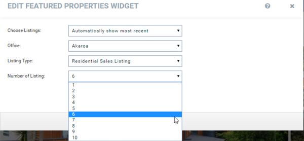 Harcourts Websites Feature Property Widget
