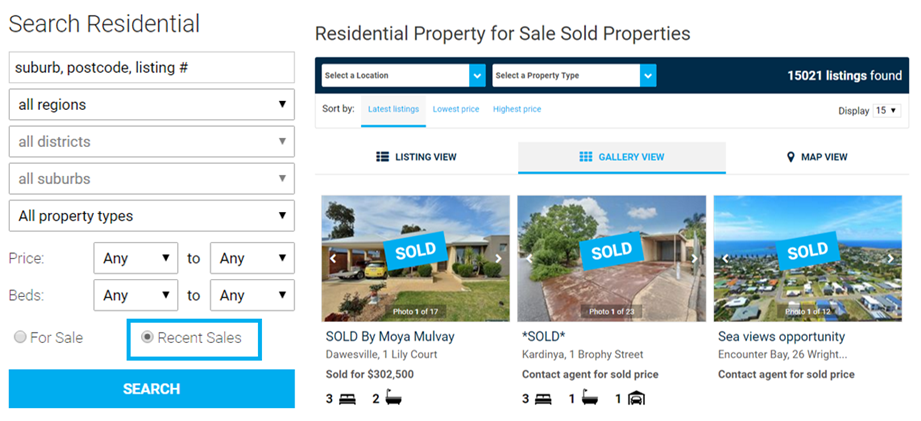 Harcourts.co.nz Sold Section
