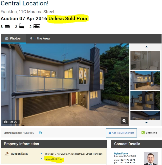 Harcourts Websites Listing View Page