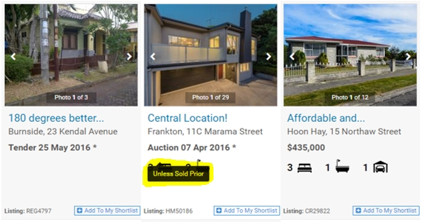 Harcourts Websites Results Page