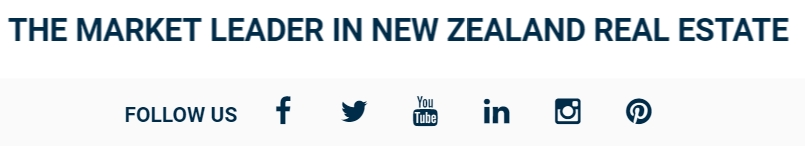 Harcourts NZ Social Media Footer Links