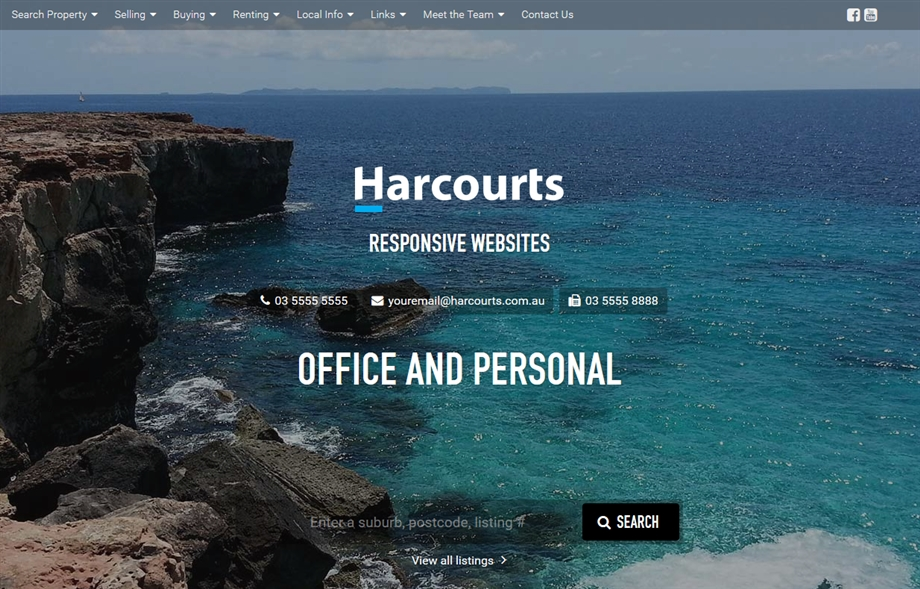 Harcourts Re-Branded Office and Personal Websites Small