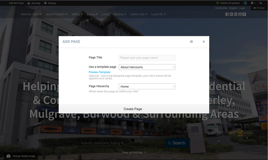 Templated Pages Image