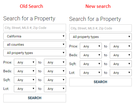 Websites Search Change