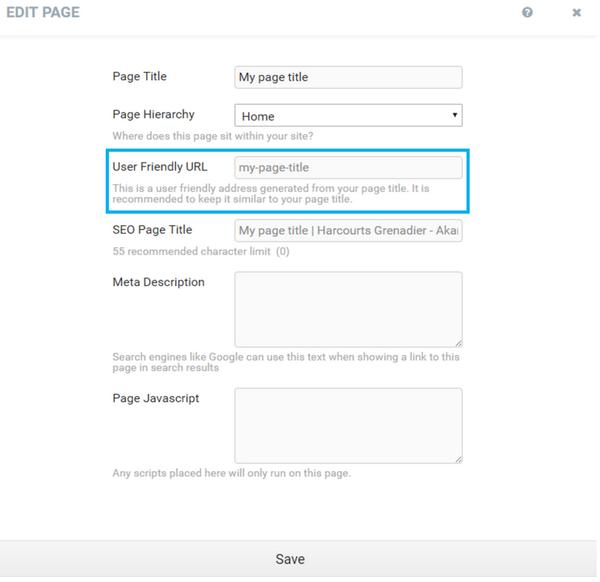 Harcourts Websites User Friendly URLs