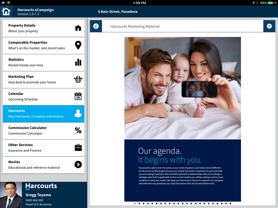 eCampaign Re-Branded Marketing with Harcourts