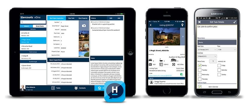 Harcourts eOne iPhone/Android phone App