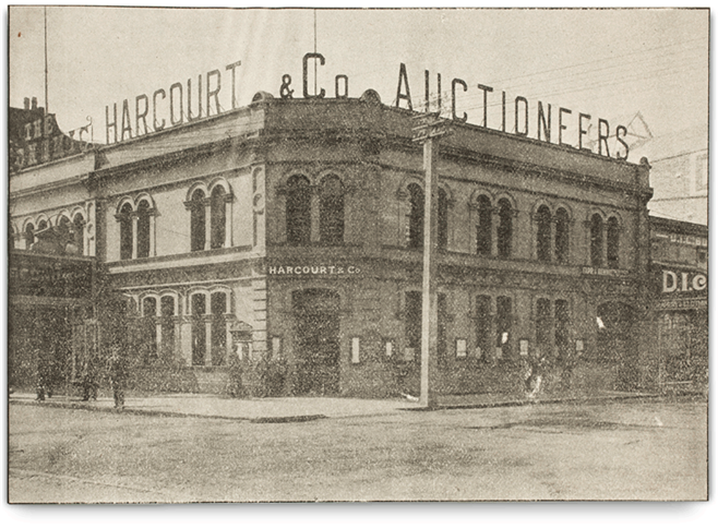 Harcourts History 125 Years Building
