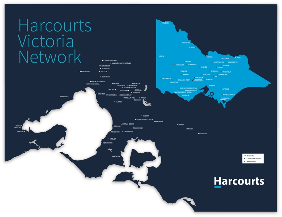 Harcourts Network Map