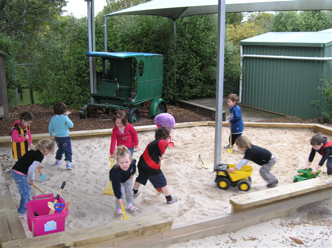 Jason's donation was put towards the three year olds sandpit at the Creswick & District Pre School