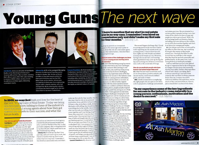 John Lin Harcourts Young Guns Article Real Estate Agent