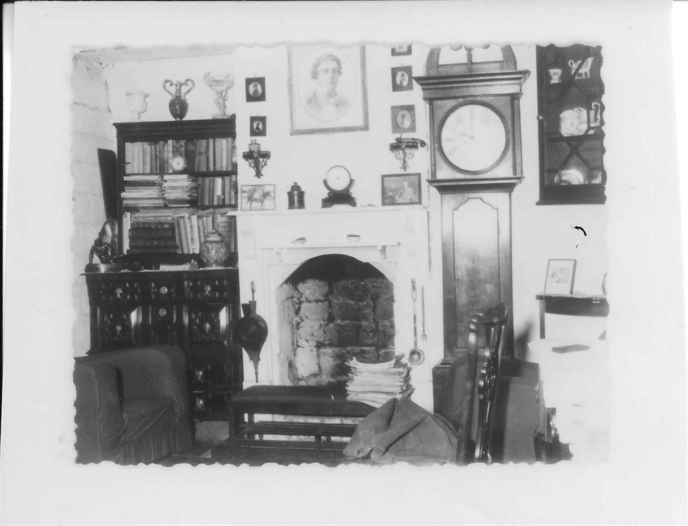 historical photo of fire place and period features