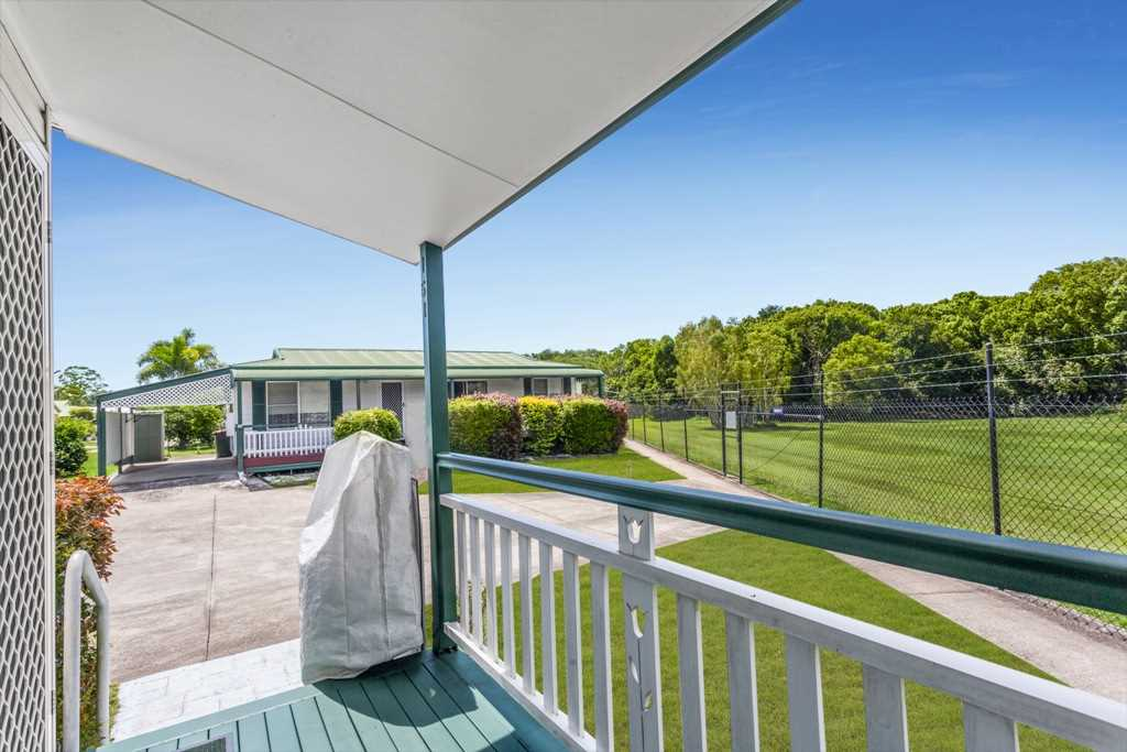 North East Facing Patio Overlooking Parkland Bush - Note Chair Lift Not Included In Sale