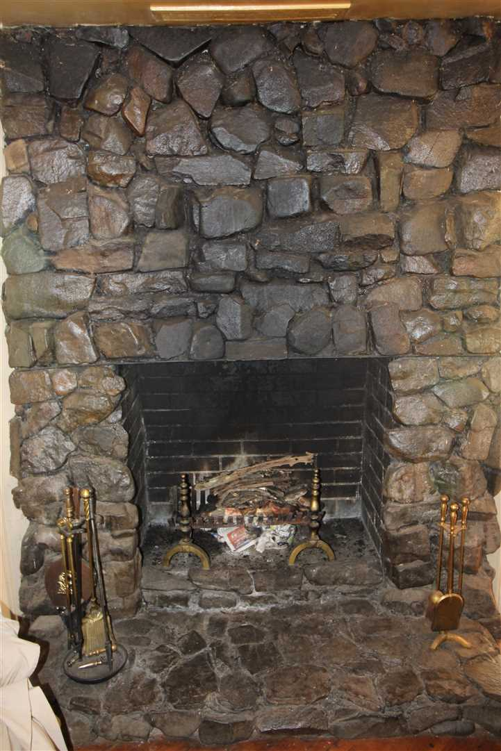 Fireplace. Rock originates from the property.