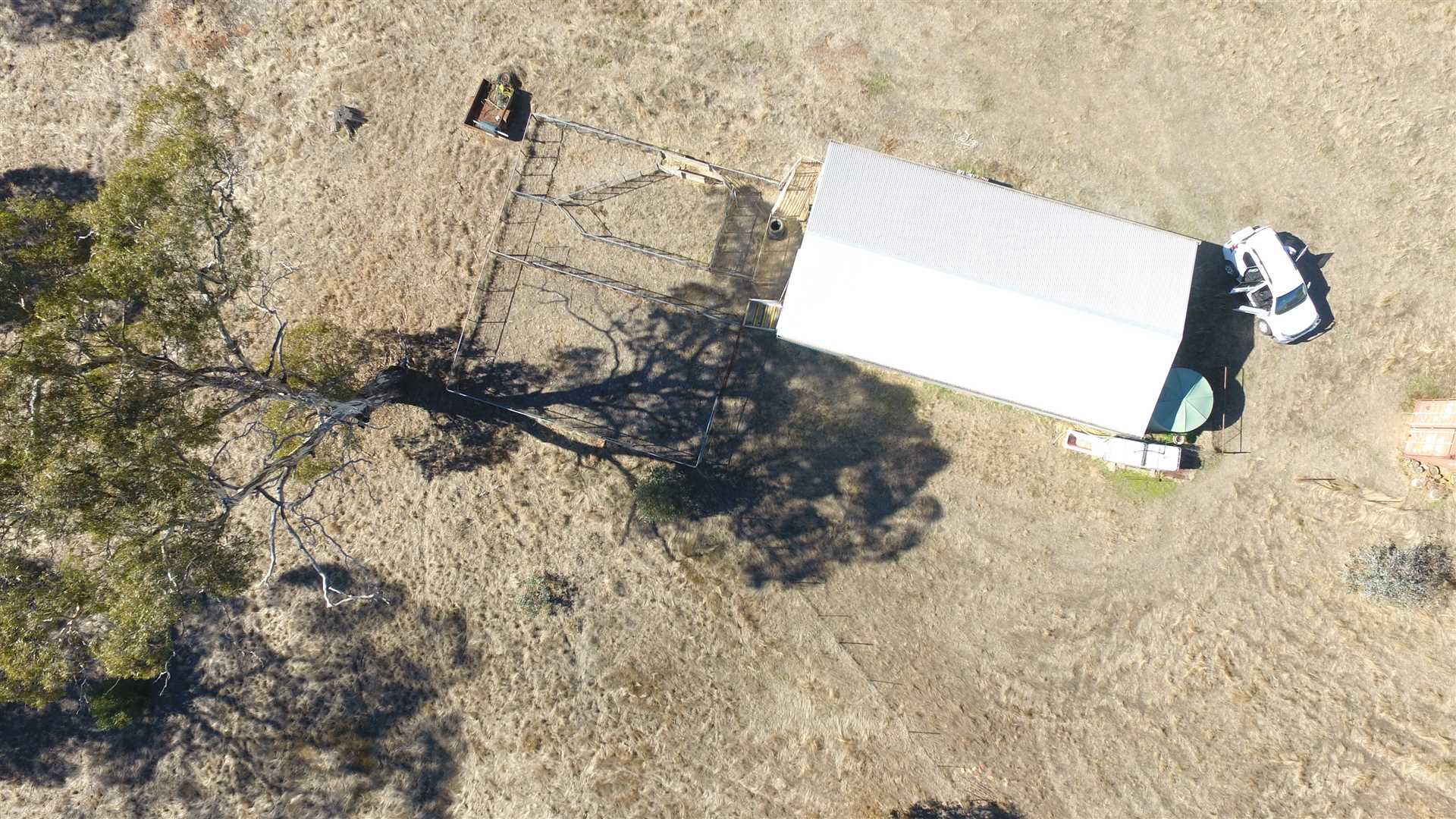 Overhead View of Shearing Shed