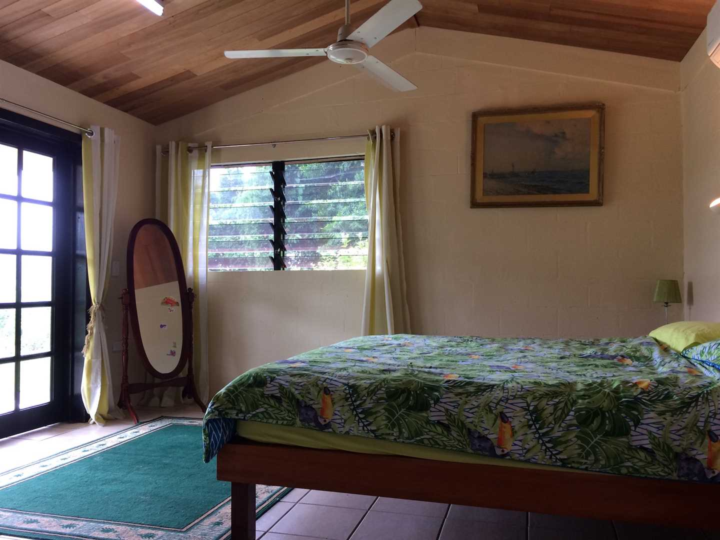 Inside view of part of home showing part of the third bedroom