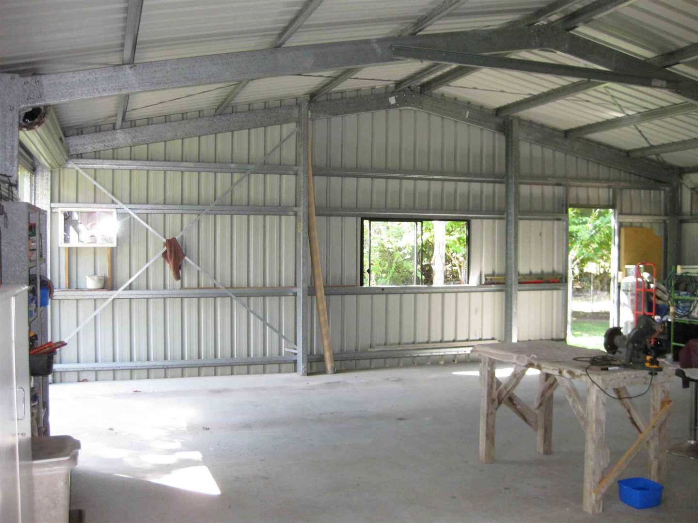 Inside view of part of modern shed, photo 2