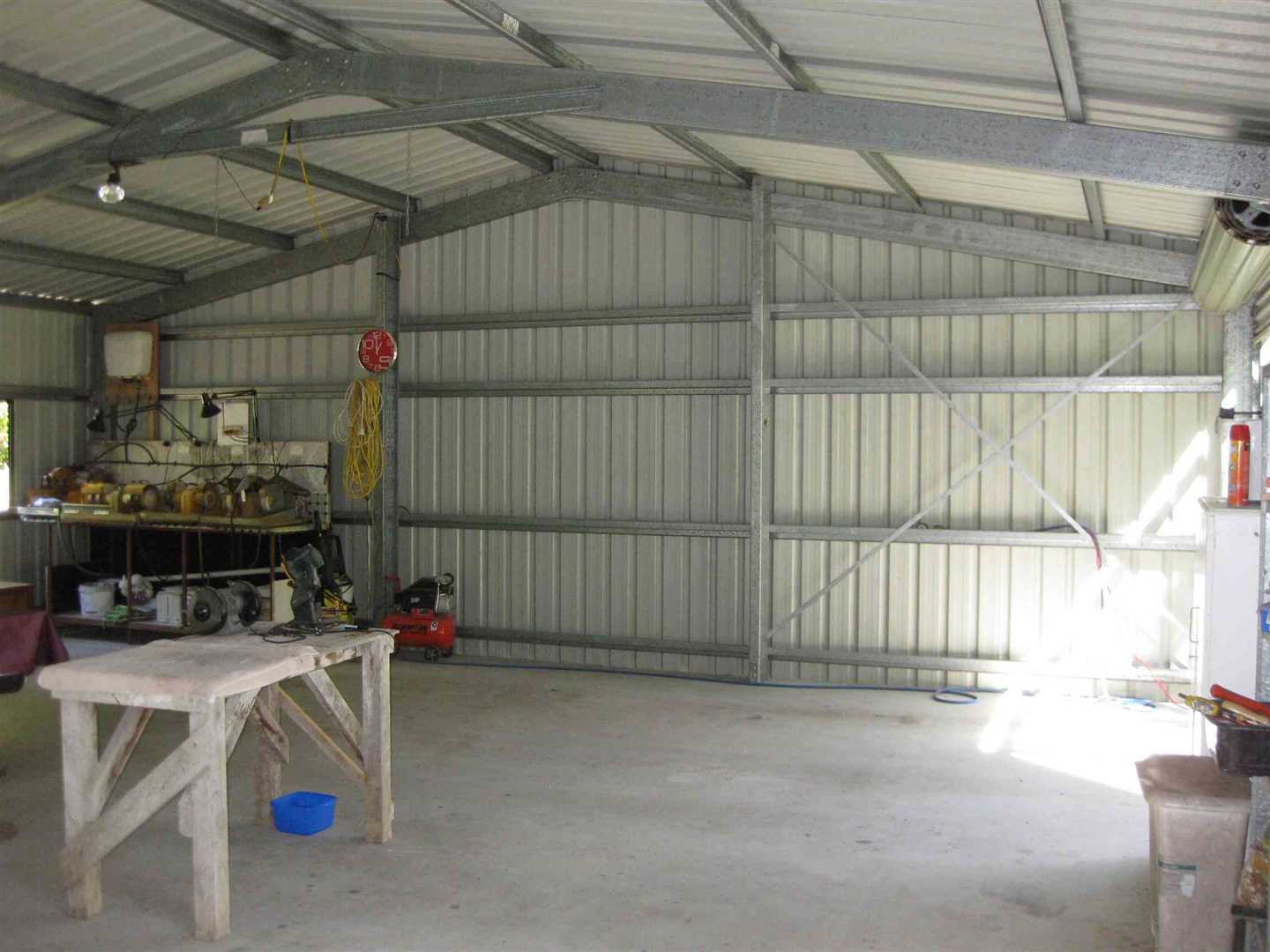 Inside view of part of modern shed, photo 3