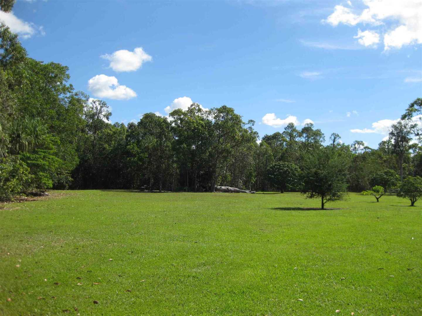 View of part of property showing part of cleared grassed area and some fruit trees, photo 3