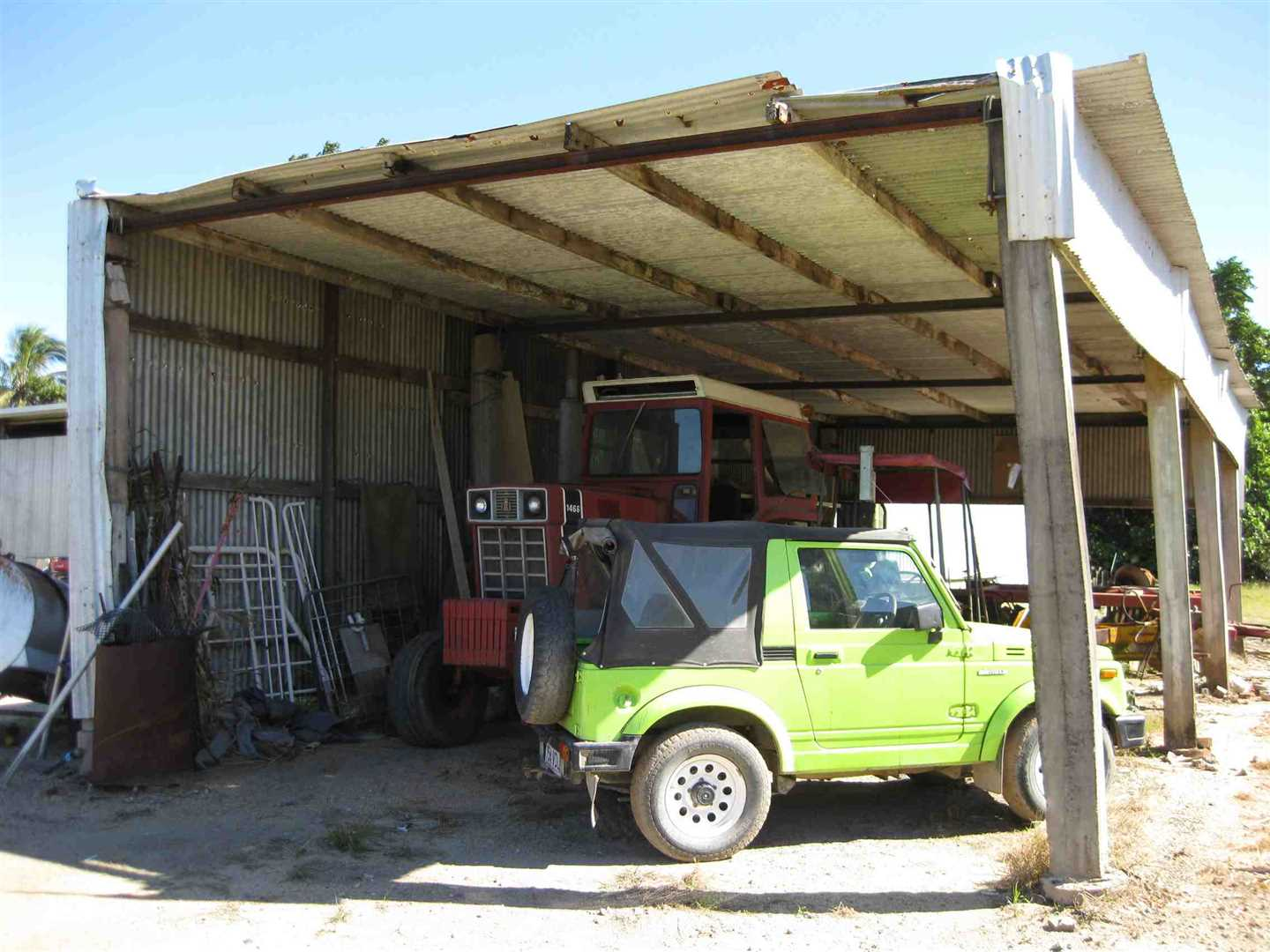 View of part of bush farm shed, photo 1
