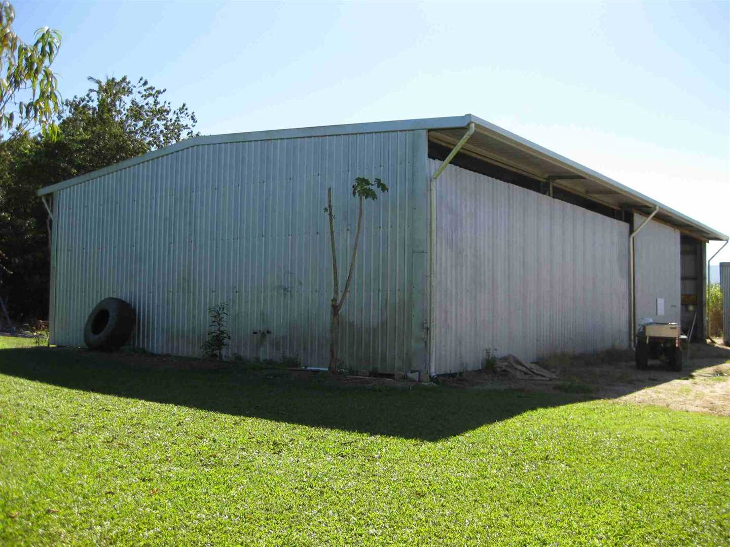 View of part of large farm shed, photo 2