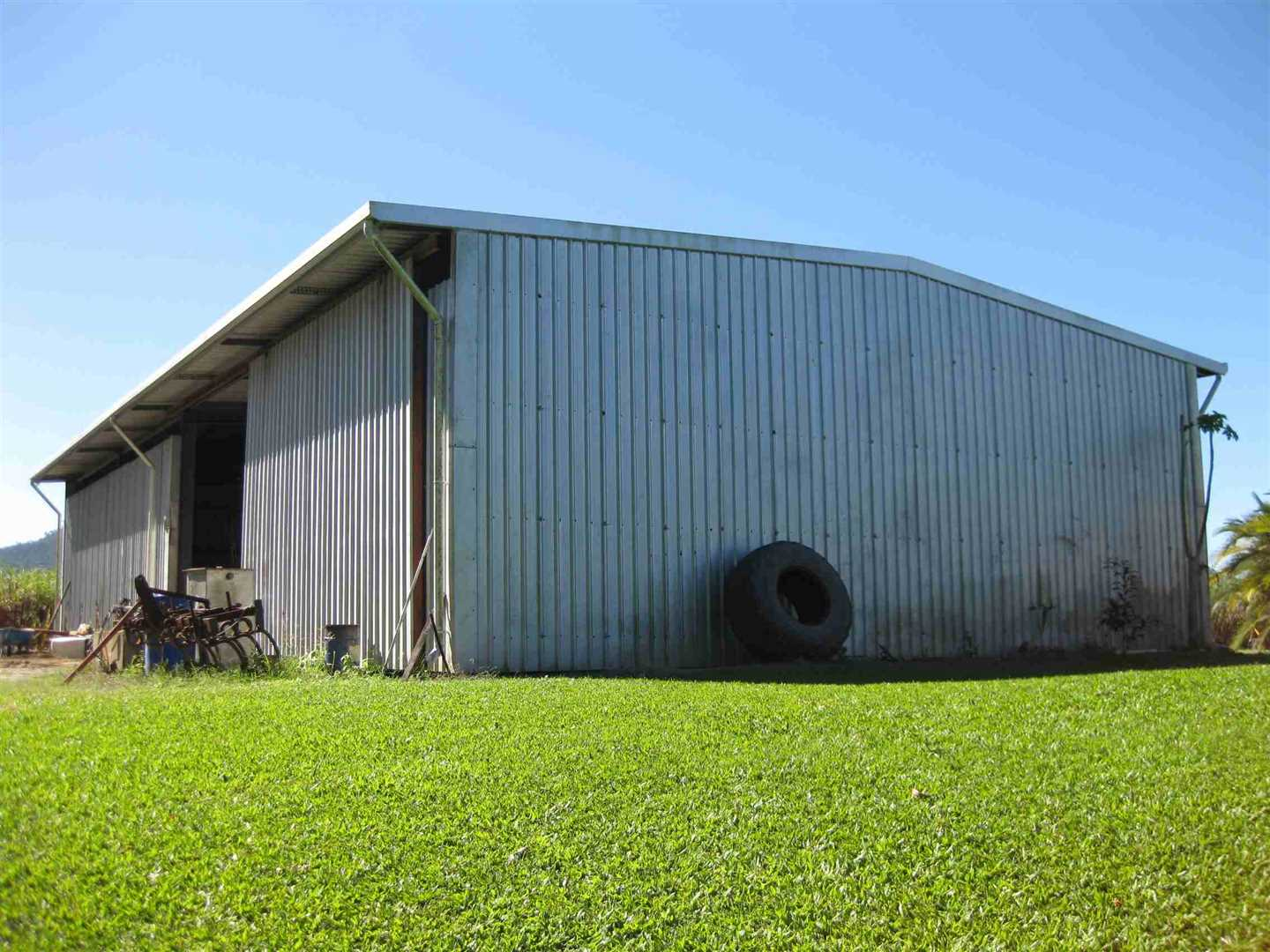 View of part of large farm shed, photo 3