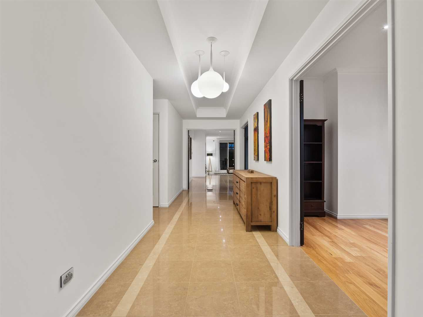 Wide entry with feature lighting