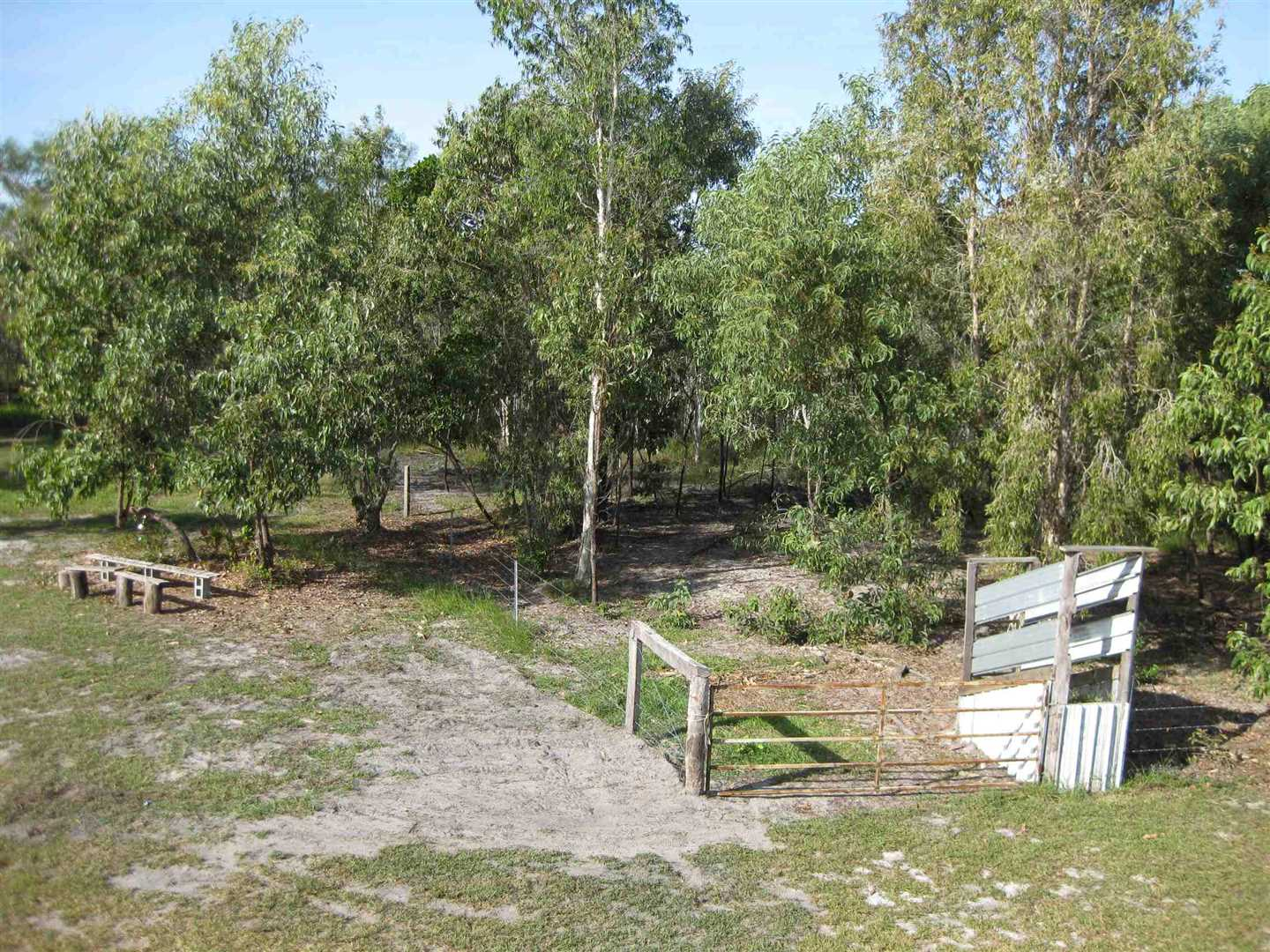 View of part of property showing part of loading ramp for livestock