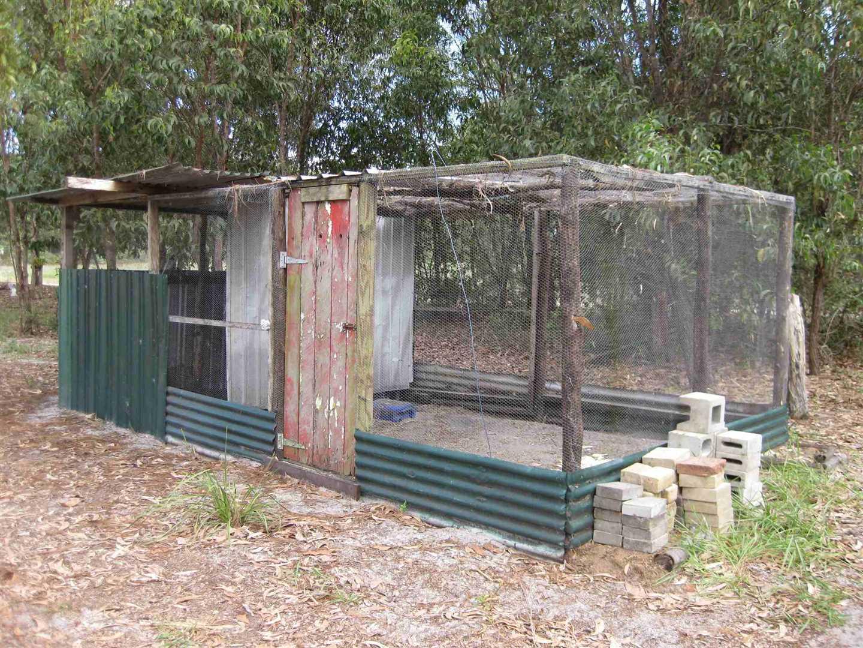 View of part of bush chicken coop