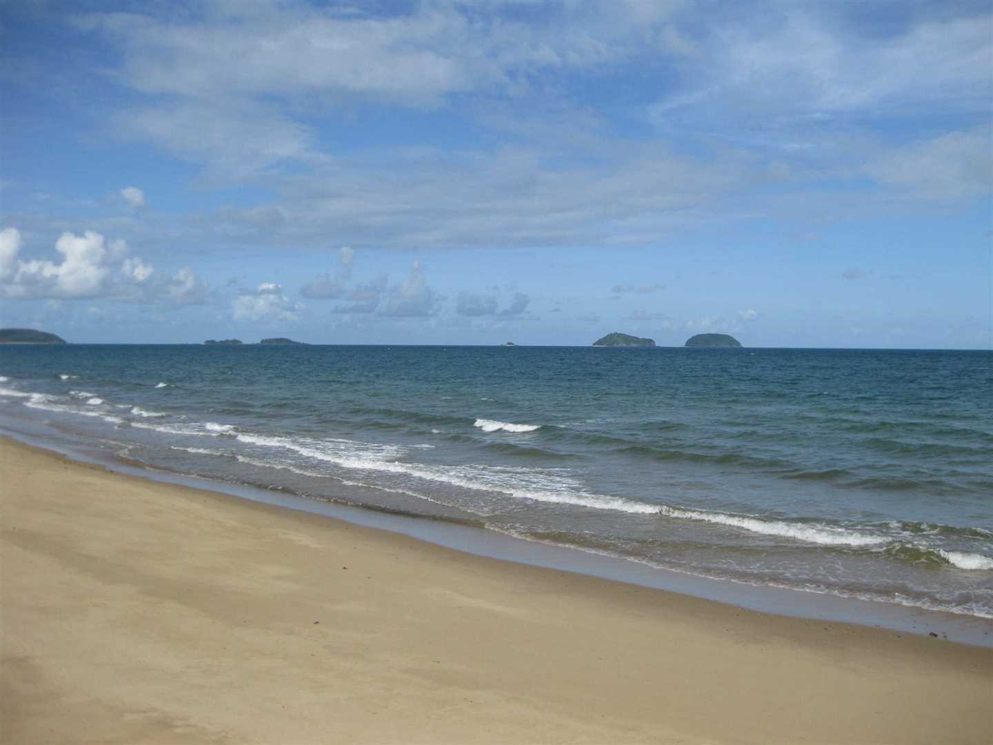 View of part of Cowley Beach and some nearby Islands
