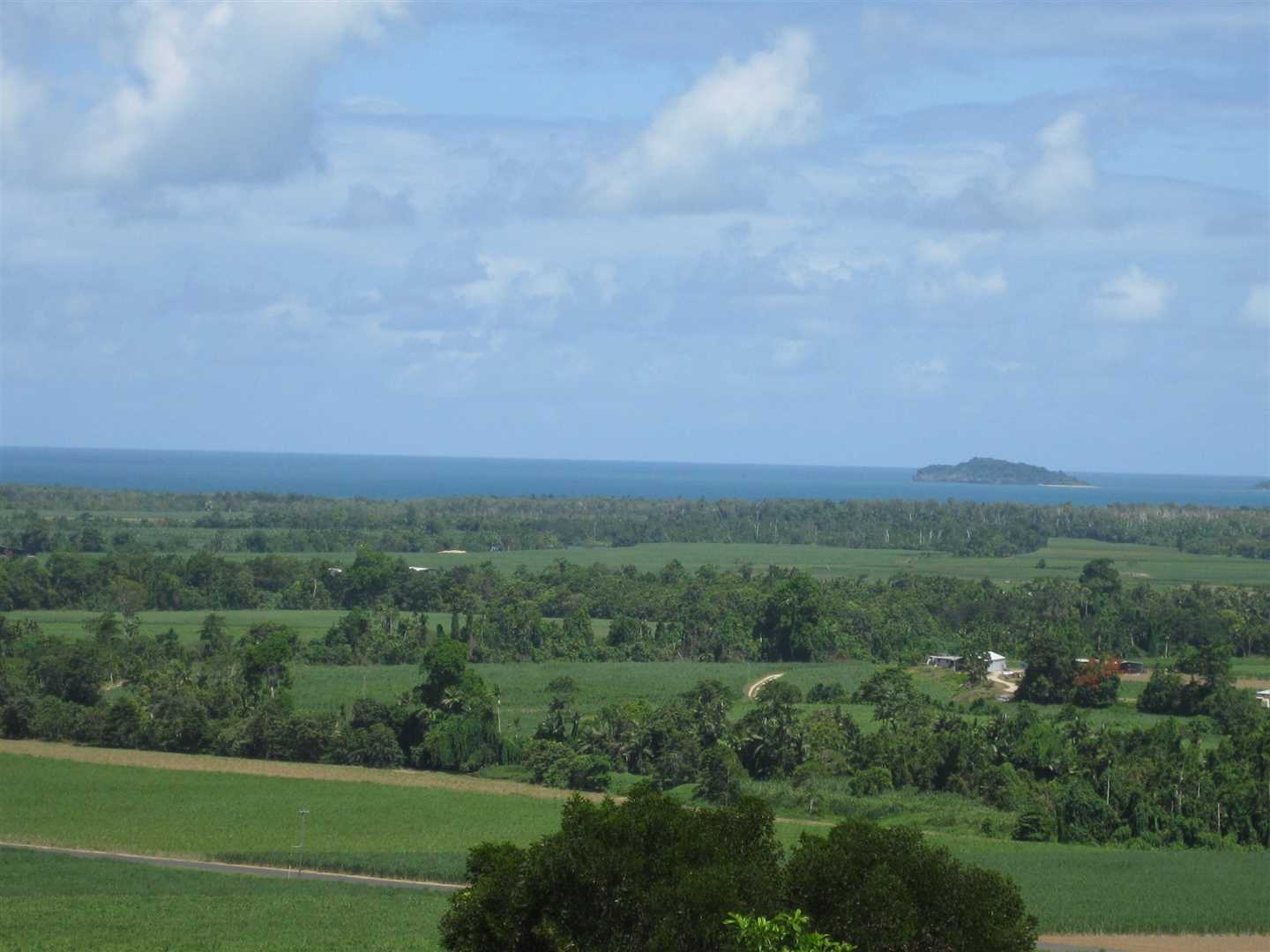 View of part of the Coral Sea and an Island from the property (zoomed photo)