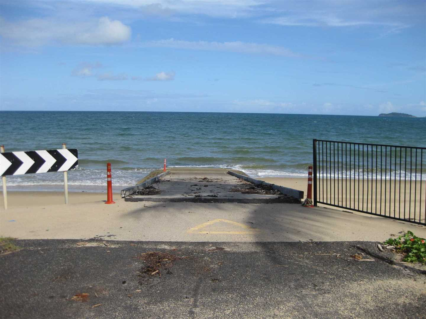 View of tidal public boat ramp at Cowley Beach