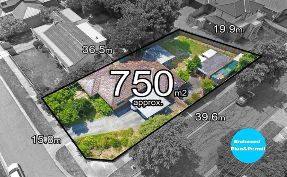 Corner Block with Endorsed Plan&Permit to Build 2 Townhouses