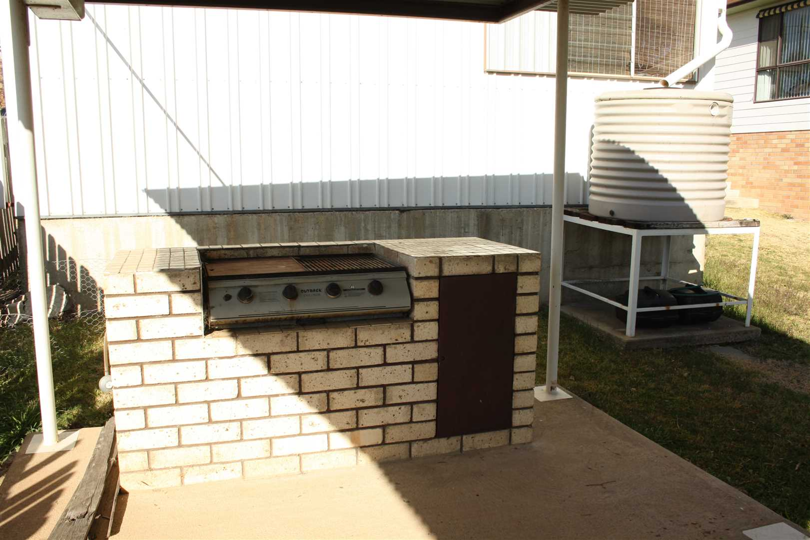 Covered BBQ Area & Water Tank