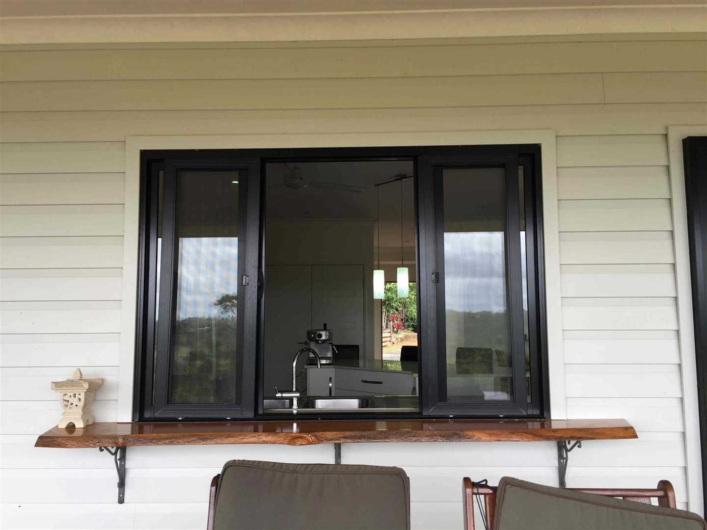 View from the home verandah showing the servery