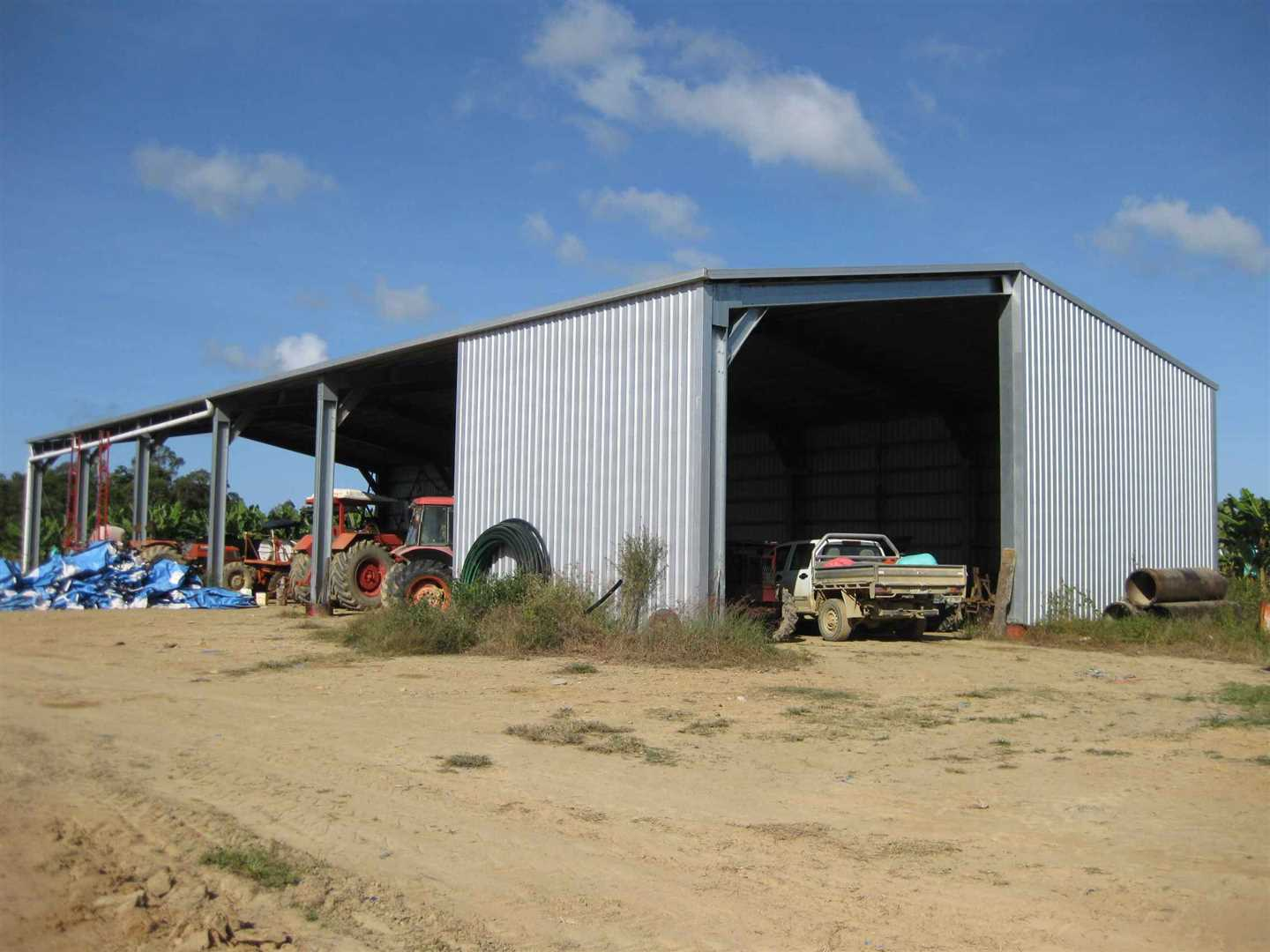 View of part of 6 bay machinery shed, photo 1