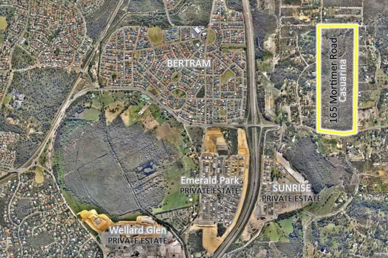115 acres Urban development land comprising  165 Mortimer Road and 24 Nicolas Drive Casuarina 6167