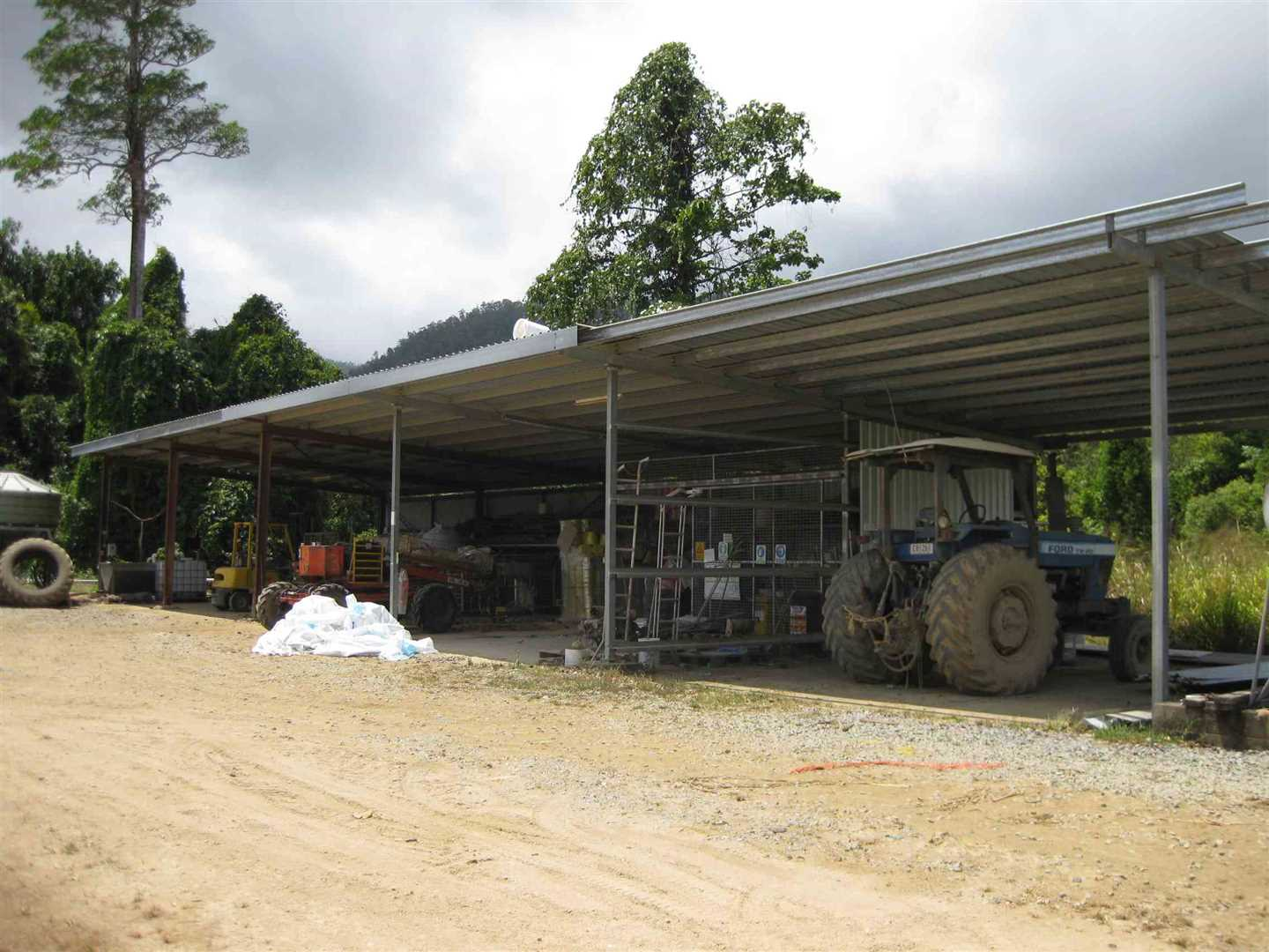 View of part of 5 bay machinery shed, photo 1