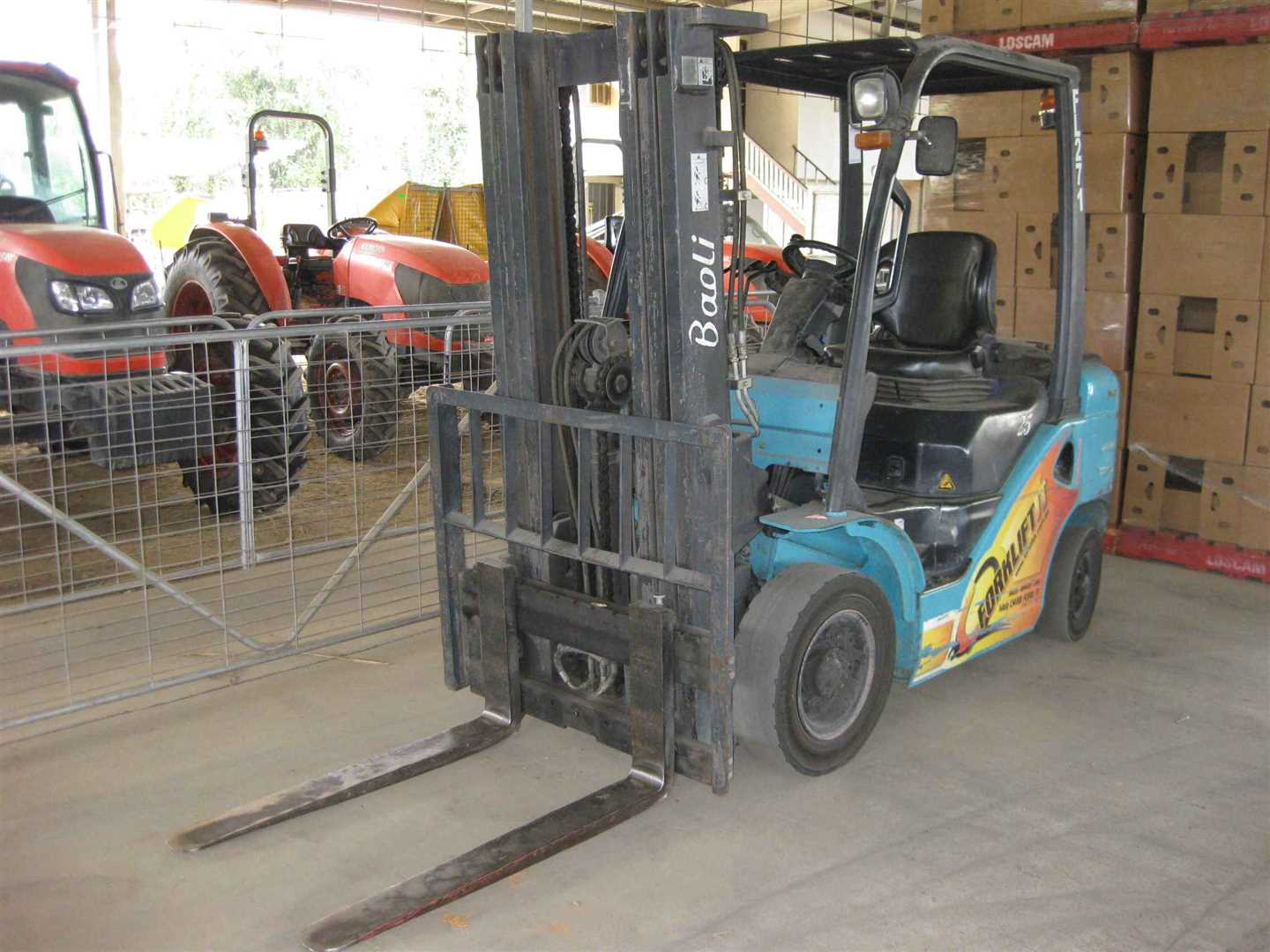 View of part of forklift, Baoli