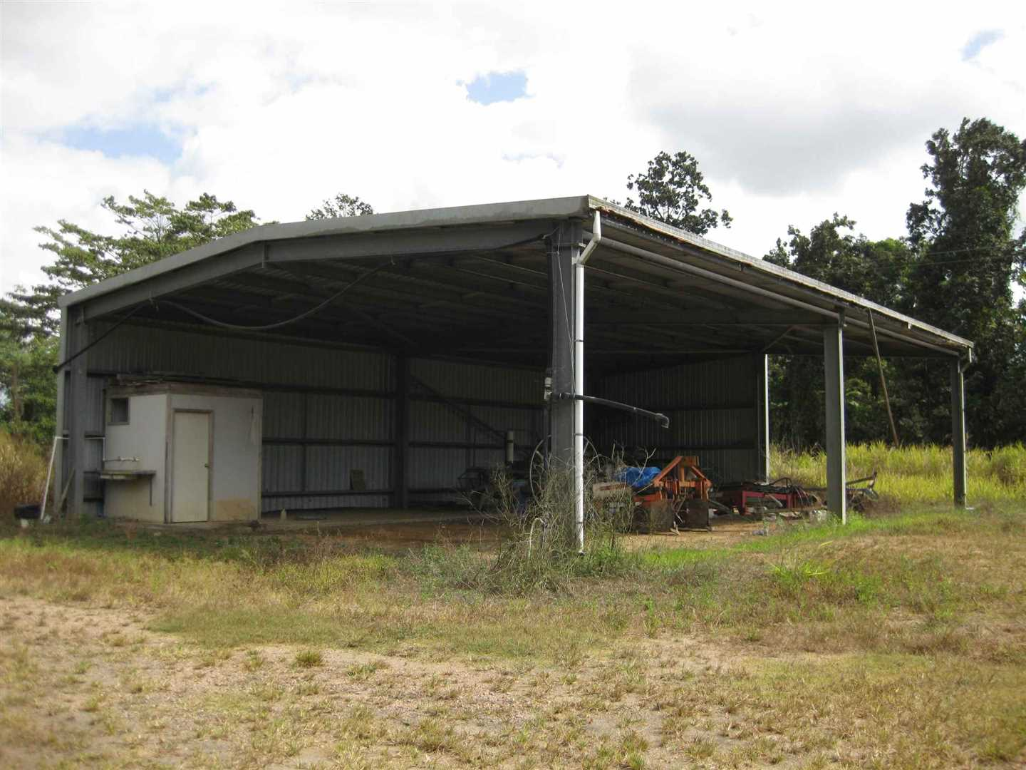 View of part of machinery shed with toilet