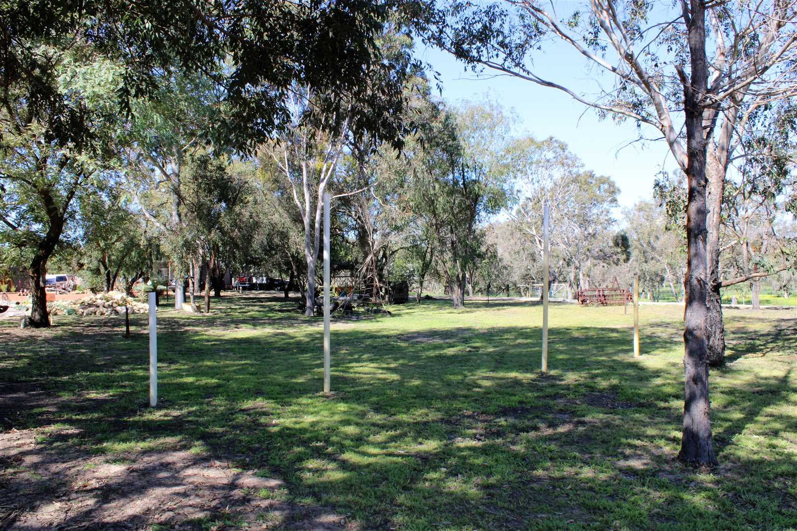 Front yard, footy oval, park