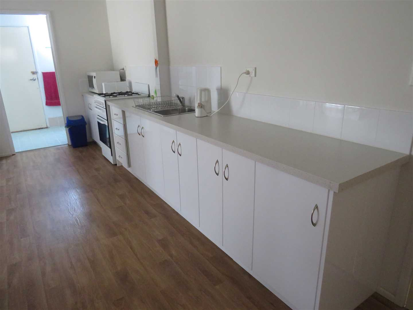 kitchen in shed unit