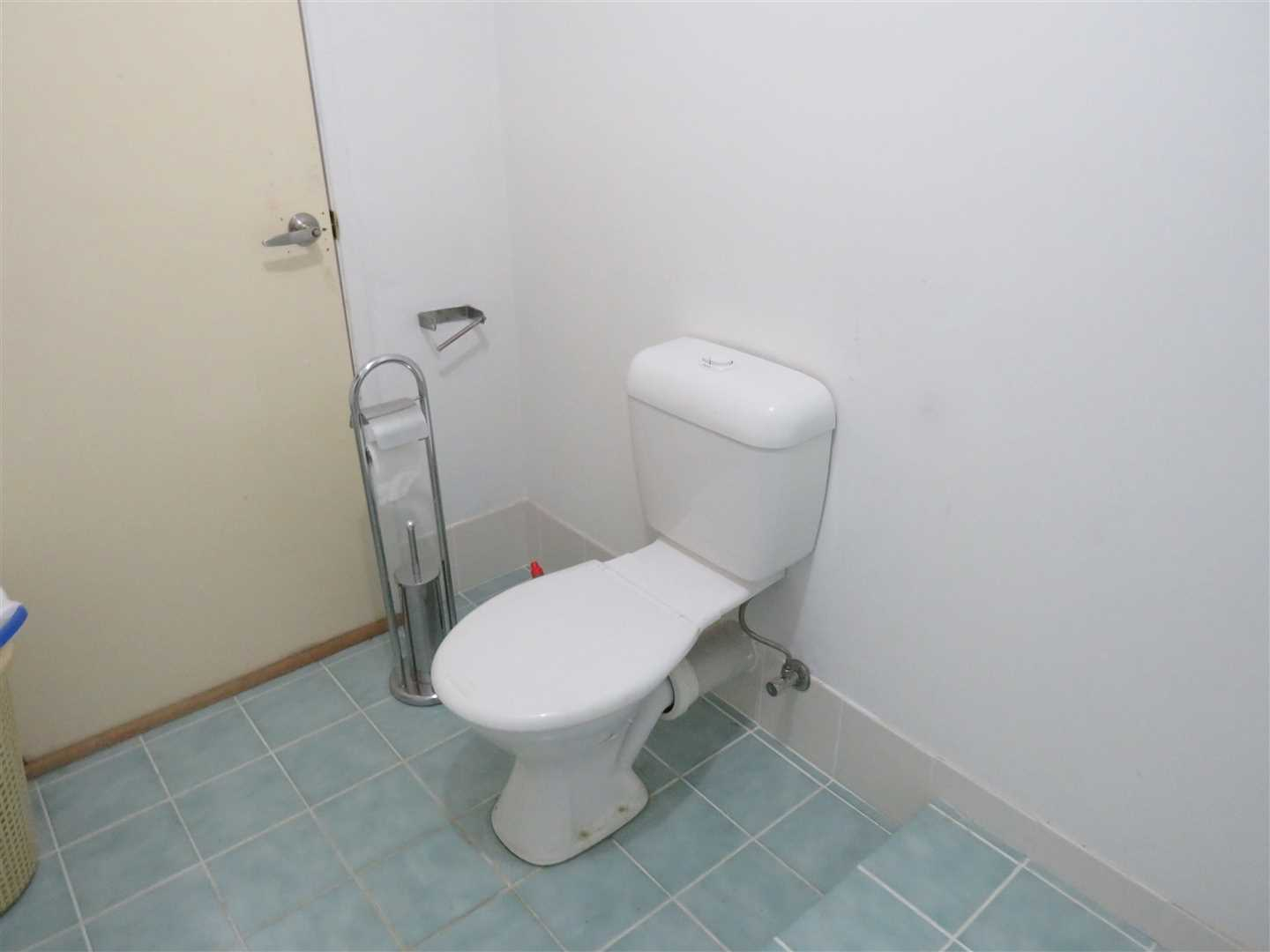 toilet in shed unit